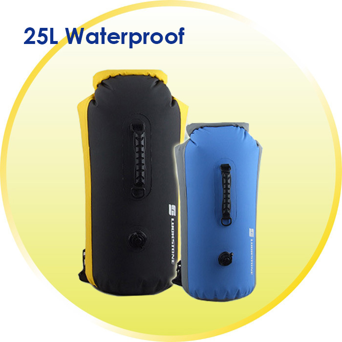 Newest Waterproof Rafting Drift Bags swimming Backpack Waterproof Bags Inflatable 25L double-shoulder outdoor Dry Bag(China (Mainland))