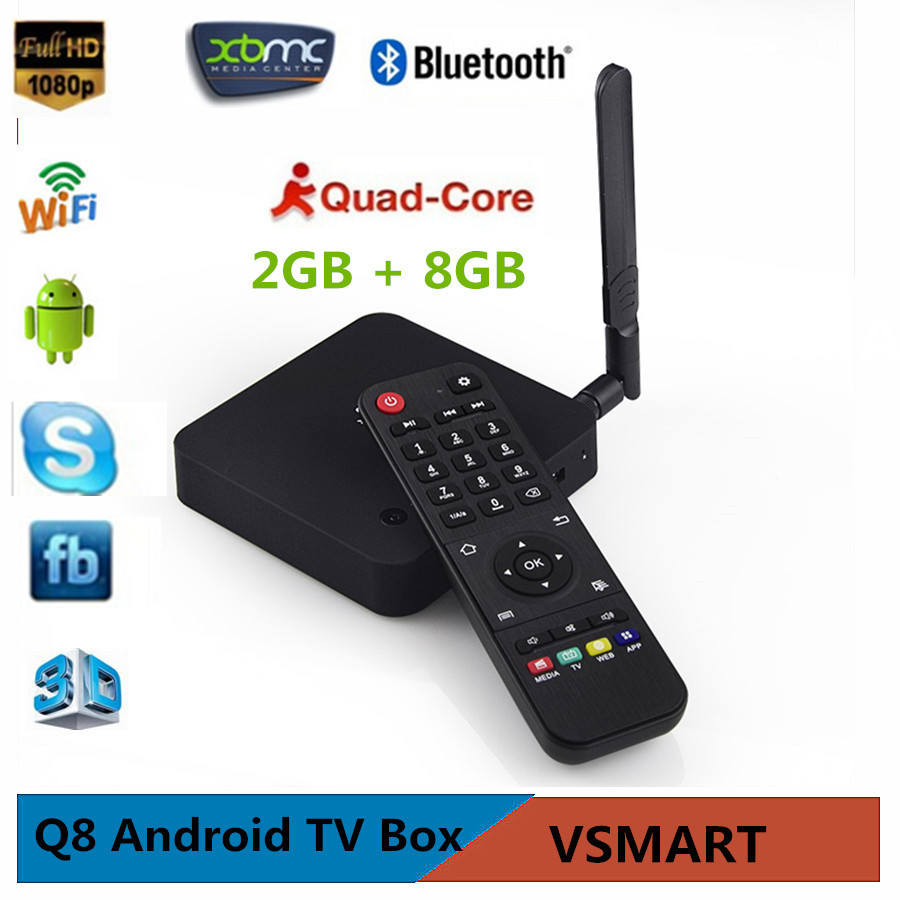 Телеприставка OEM Vensmile 8 RK3288 cortex/a17 2.4 G + 5 G wifi Quad Core 2 G/8 G Android 4.4 HDMI Q8 Android TV BOX телеприставка vensmile m8 amlogic s802 2 8 android tv box kitkat 4 4 wifi
