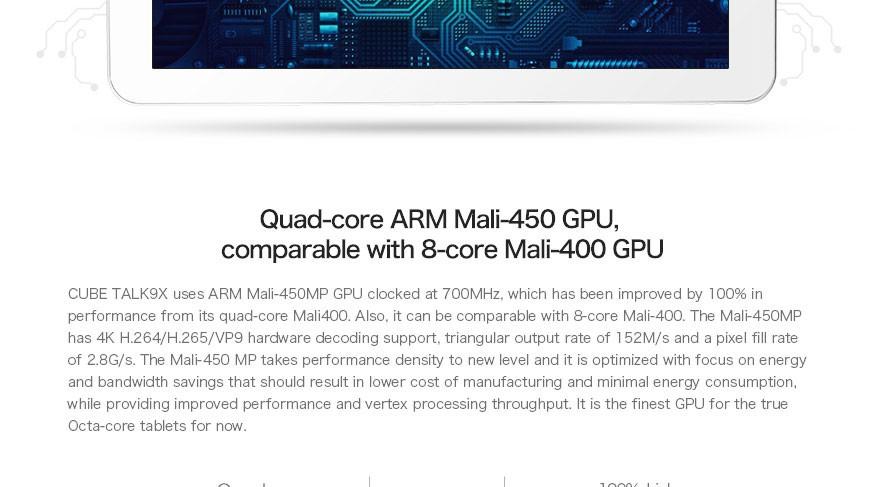в складе оригинальные 9,7 дюймовый Кубе говорите 9 x 4.4 mt8392 окта ядро tablet pc sim карта 2 ГБ 32 ГБ ips 2048 x 1536 экрана android 8.0MP