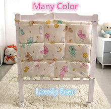 Promotion! Kitty Mickey 62*52cm baby bed hanging storage bag newborn crib organizer bags baby toys bag,baby bedding set