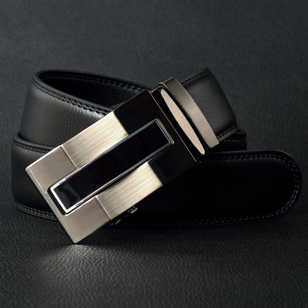 2015 f brand men's boss belt designer belt men high good quality men name brand genuine leather luxury Automatic buckle belts(China (Mainland))