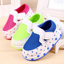 2015 Spring CandyColor Newborn/Infant/Toddler/Kid Shoes Baby Boy / Girl Sneaker Soft Sole Mesh/Star Schuhe  Age 0-24Month(China (Mainland))