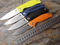 F3 Bearing system Floding knife Metal wire drawing D2 blade Apple green G10 handle outdoor survival