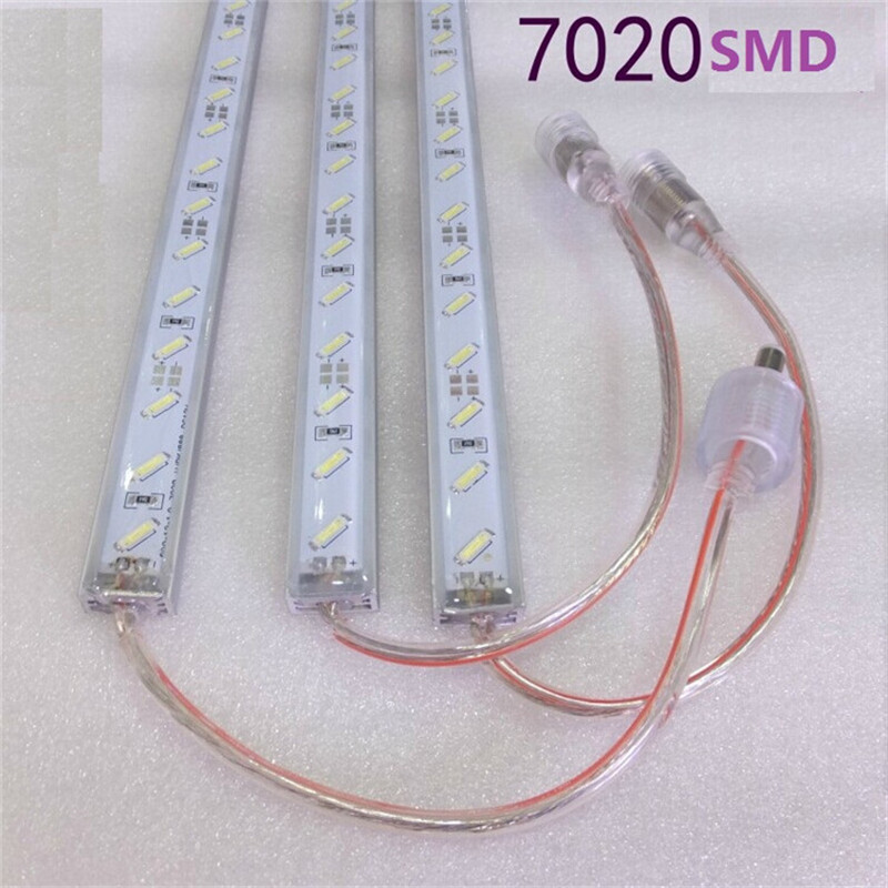 Free shipping 10pcs/lot Samsung 7020 aquarium Light, led bar light for pool , 18W/M  water proof led hard strip LHS-70-002-IP65(China (Mainland))