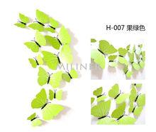Бесплатная доставка 12 шт. ПВХ 3d бабочка Настенный декор милые бабочки настенные художественные наклейки переводки украшение для дома комна...(China)