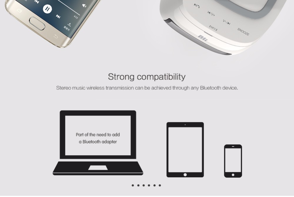 Home Bluetooth speaker qi wireless charger Pad Music surround speaker NILLKIN Cozy MC1 for iPhone 8 8+ X for samsung for xiaomi