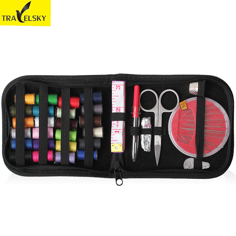 Upgrade Sewing kits portable for travel home needle tape scissor multifunction DIY Home Tools 2colors 1