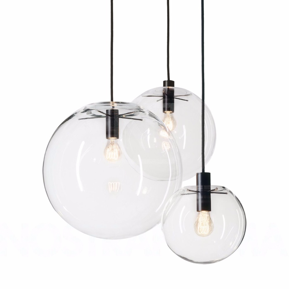 Buy nordic pendant lights globe lamp for Lustre 3 suspensions