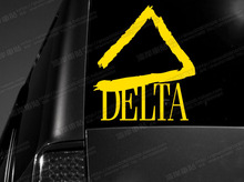 Car stickers reflective car stickers delta car stickers