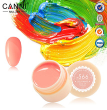 CANNI 140 Colors Gel Paint Solid Pure Glitter UV Soak Off Gel Builder Gel Nail Art