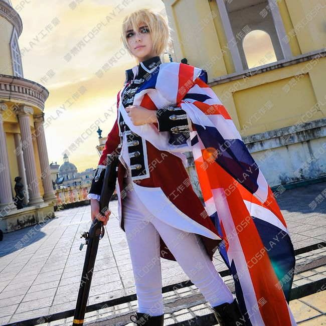 APH Hetalia Axis Powers War of Independence British England Cosplay Costume
