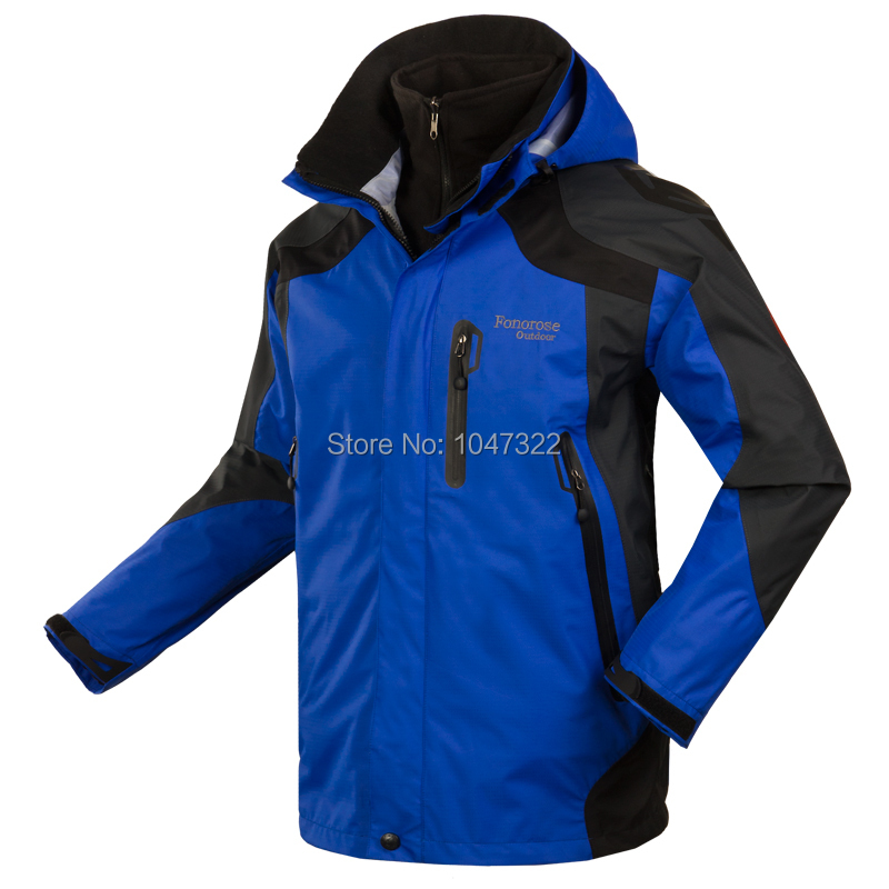 2014 NEW Outdoor Climbing Clothes Fashion Two-piece Men Sports Coat Winter Waterproof Skiing Jacket 5 Colors<br><br>Aliexpress