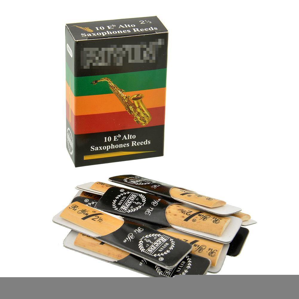 Гаджет  Hot 10pcs Classic Alto Sax Reeds Reed For Riyin Saxophone 2.5 Strength 2 1/2 Gift Useful Traditional None Спорт и развлечения