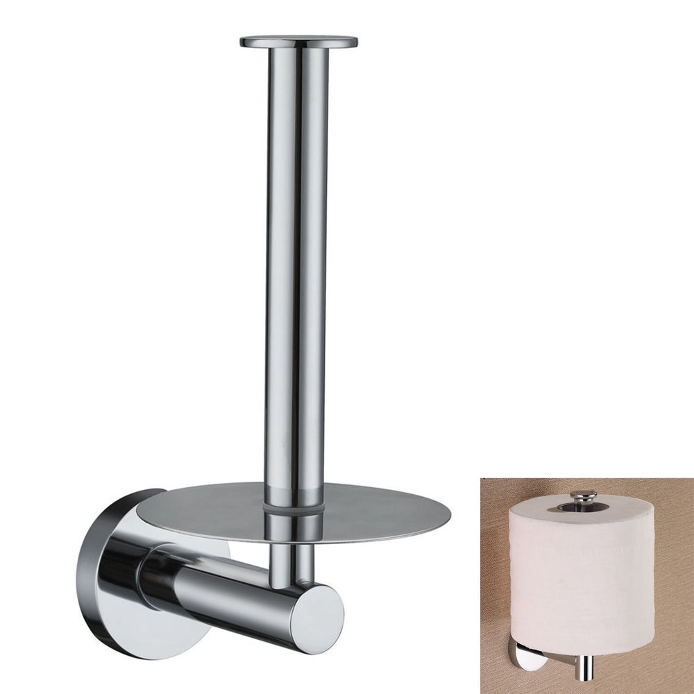 Toilet tissue paper roll holder stand wall mounted for Bathroom accessories toilet roll holder