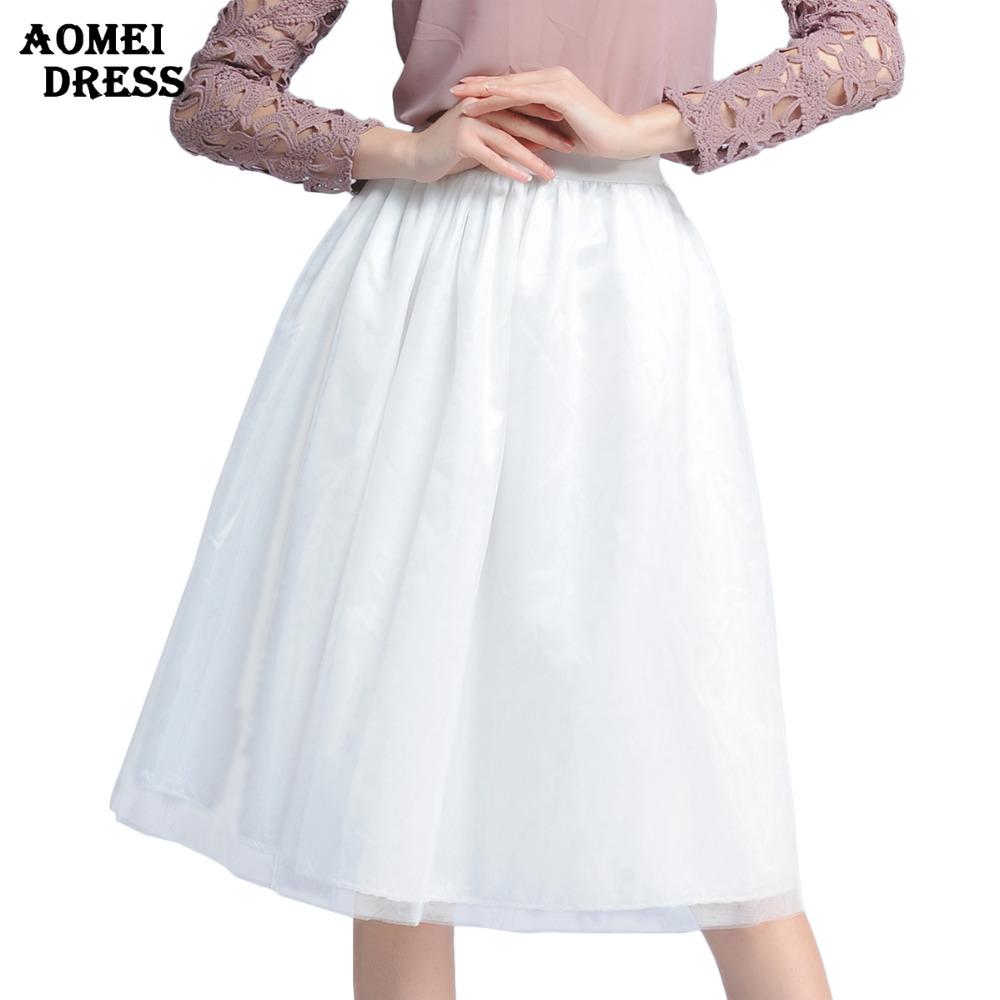 Women Black Mesh Grunge Ball Gown Puff Skirts saias femininas 2016 Fashion Novelty faldas Midi Skirt fluffy Skort Tulle Bottoms - AOMEI DRESS store