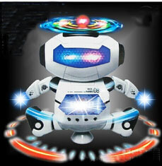 2015 hot selling Children dance music dancing lights infrared 360 degrees electric robot interesting toys Free shipping(China (Mainland))