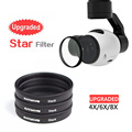 Upgrade Luminous Filter Gradient lens Gray/ Red /Orange/Blue for 4X6X8X Starlight mirror DJI Phantom 4 and Phantom 3 Accessories