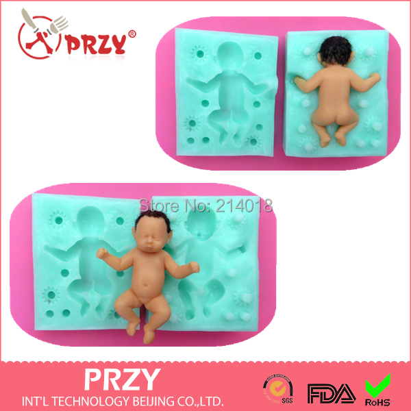 PRZY 100% 3D Baby silicone mold fondant silicon cake decoration - Int'L Technology Beijing Co.,LTD. store