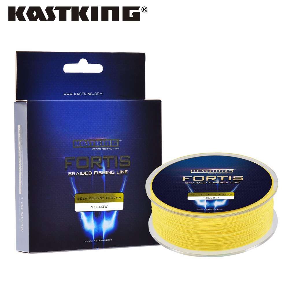 KastKing 550m 4 Strands PE Braided Fishing Line Multifilament Fishing Line Wire Brown/Yellow/Blue/Green 0.10~0.50mm 10-80 LB(China (Mainland))
