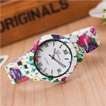 2018 אופנה עלה עץ שעון נבה מודפס סגסוגת שעונים גברים של שעונים חדש ססגוניות באיכות יצירתי שעונים(China)