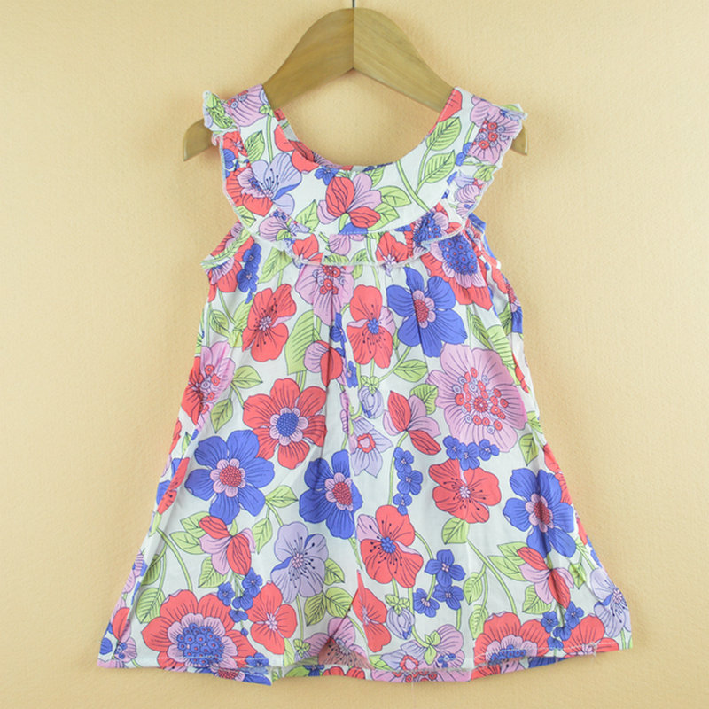 Girls Dress New Designer cotton 2015 summer flower child clothing baby dress princess - Big Deal Fashion store