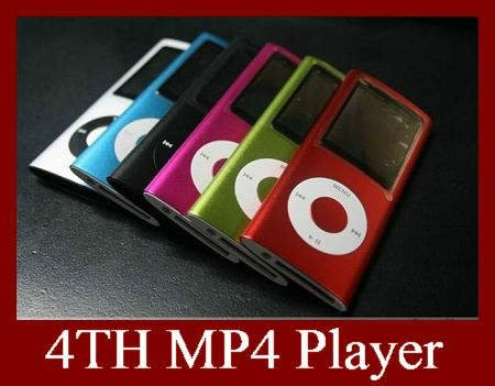 DHL EMS 30pcs 4TH Generation MP3 MP4 Player Real 4GB 1.8 Inch 9 Colors High Quality Multi Media Player(China (Mainland))