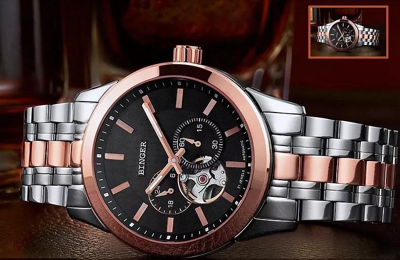 Бренд Бингер Аналоговый Цифровой Нержавеющей Полная Сталь Часы Сигнализация мужская Открытый Спорт Наручные Часы Авто Наручные Военные Часы