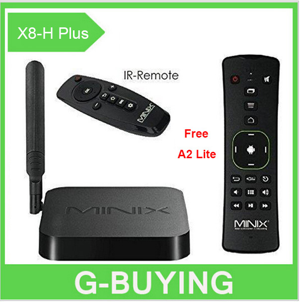 MINIX NEO X8-H Plus X8 H android tv box Amlogic S812 Quad Core smart TV stick Android 4.4 2G 16G H.265 4K 2.4G 5.0G WIFI+A2 lite(China (Mainland))