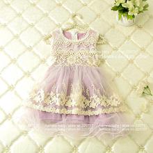 Beauty princess dress,wholesale baby girl clothes,summer style lace tutu dresses (5pcs/lot)