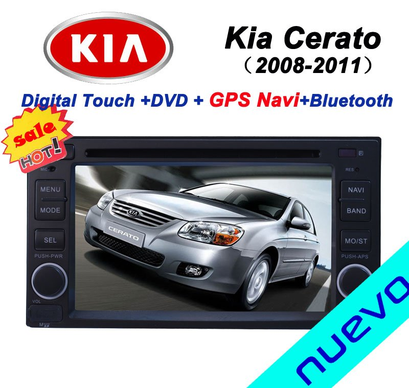 Special Kia Cerato Car DVD Player with GPS navigation Bluetooth Radio USB(2008-2011)(China (Mainland))
