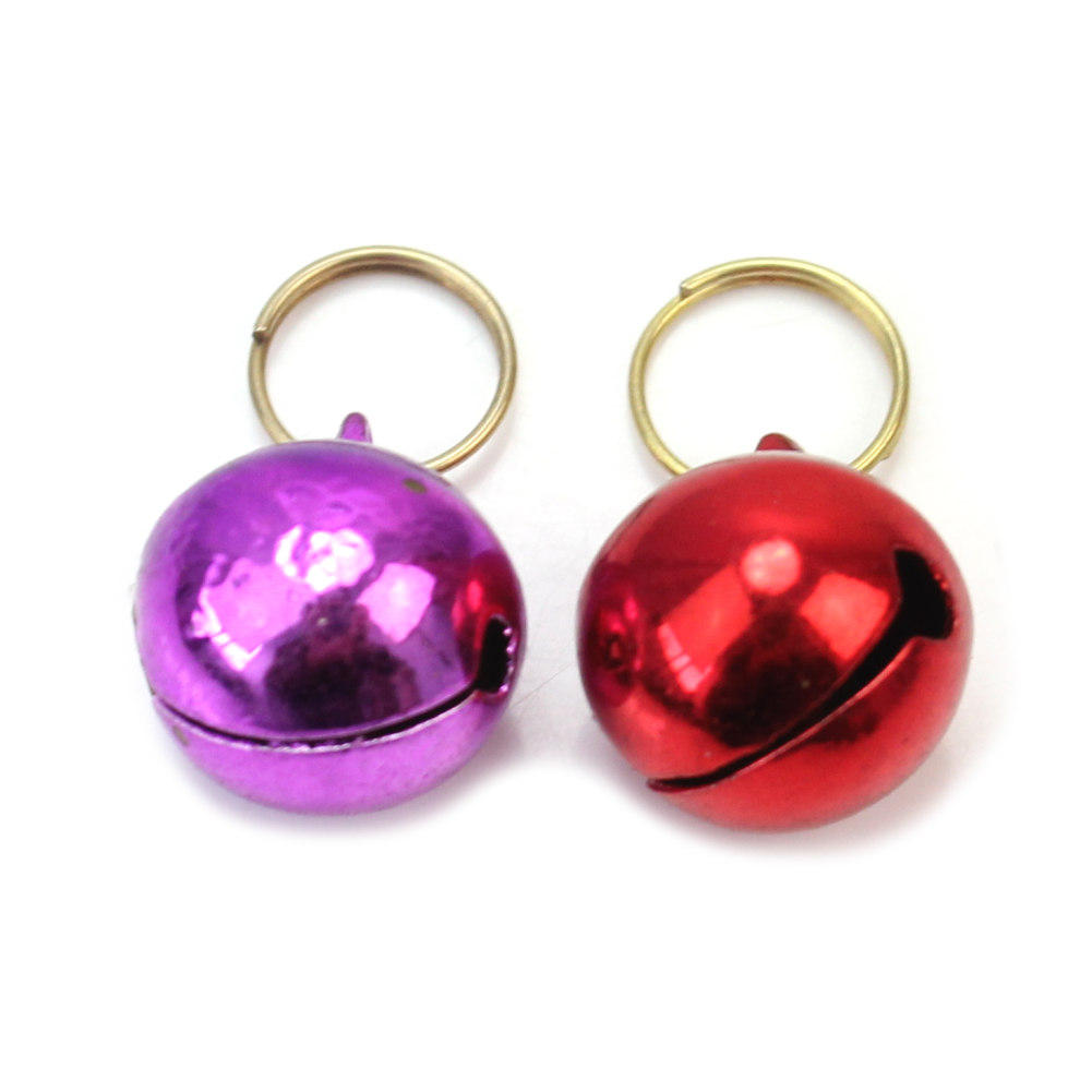 2pcs Randomly Color Bell Pet Puppy Dog Cat Metal Bell Collar Pendant DIY Decoration Ornament Animal Accessories Pet Product(China (Mainland))