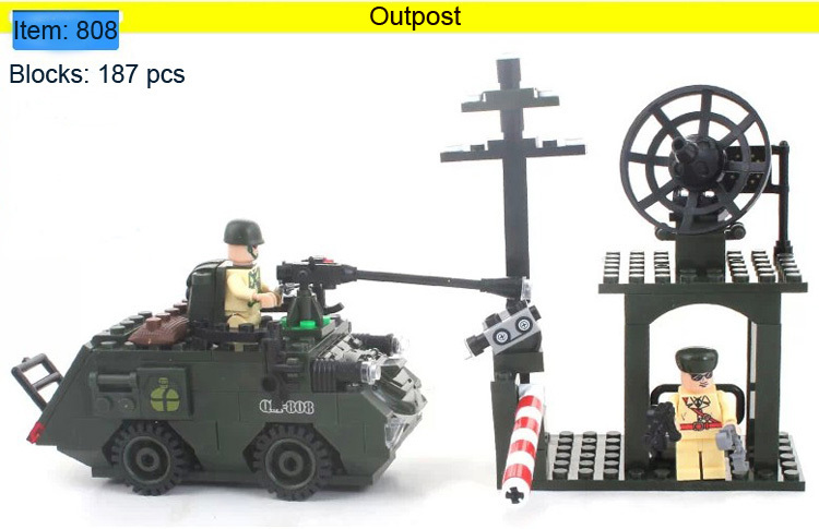 Enlighten Building Blocks Outpost Tank Combat Zones Military Construction Sets Hot Toys Children Model Kits - C&T store