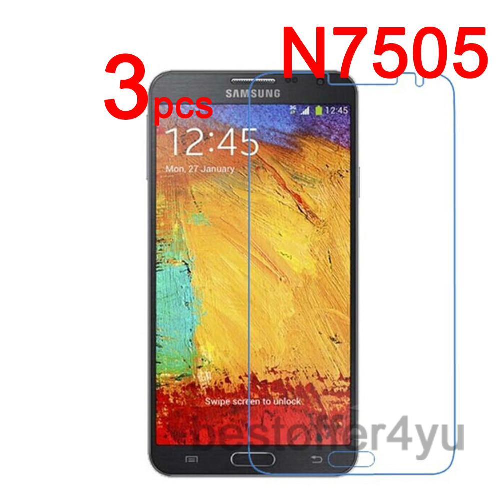 Anti-scratch CLEAR LCD N7505 Screen Protector Guard Film Samsung Galaxy Note 3 Neo Protective + cloth - Xinghai store