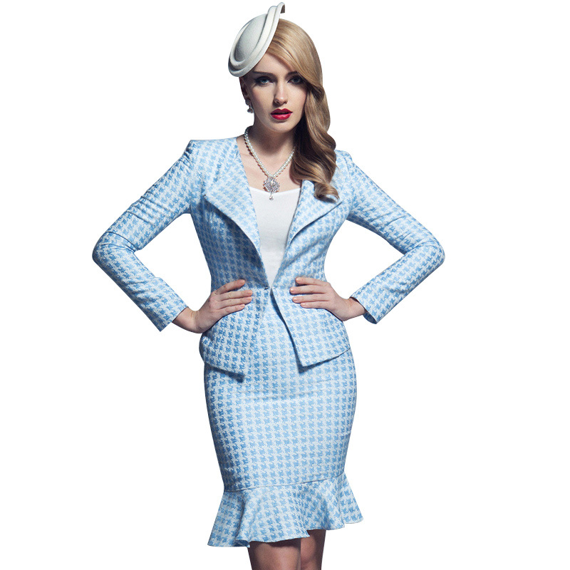 Innovative New 2015 Women Business Skirt Suits Fashion Formal Office Ladies Workwear Female Suits Blazer ...