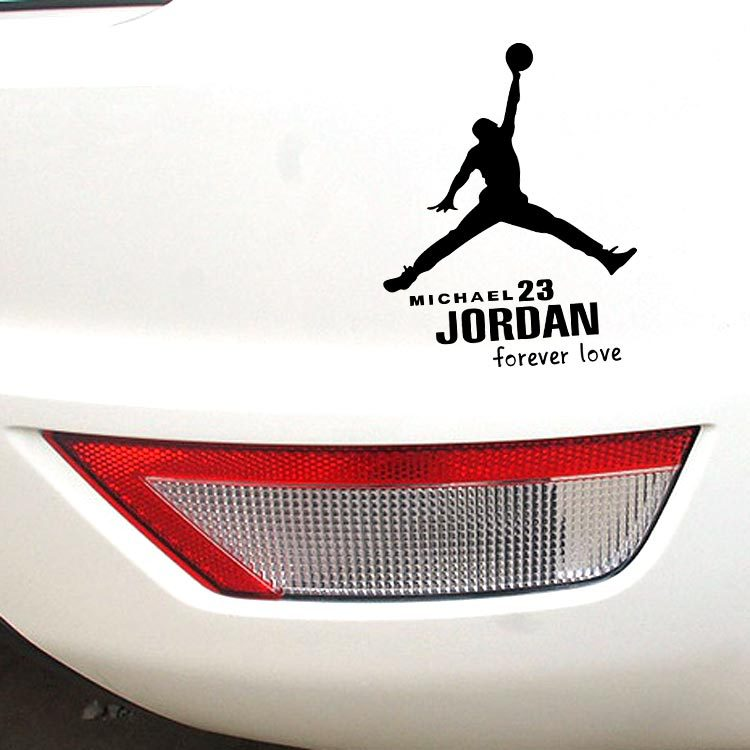 Car Stickers Micheal Jordan Basketball Air 23 Decals For Doors Auto Tuning Styling Cyter Waterproof 14 * 11cm S-771(China (Mainland))