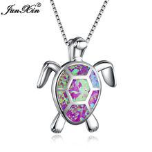 """Женское Ожерелье """"Черепаха"""", синий, зеленый, белый опал, новая мода, животное, свадебные украшения, 925 пробы, серебряные ожерелья, кулоны, пода...(China)"""