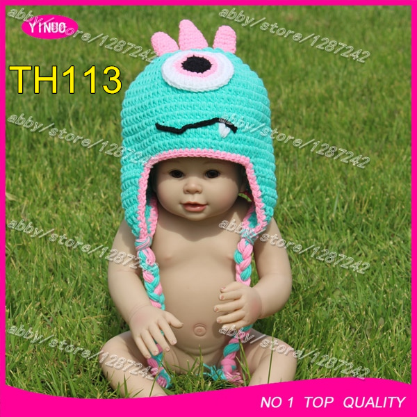 wholesale crochet knitted hats animal ,crochet beanie hat ,crochet skull caps, children party props cartoon funny picture(China (Mainland))