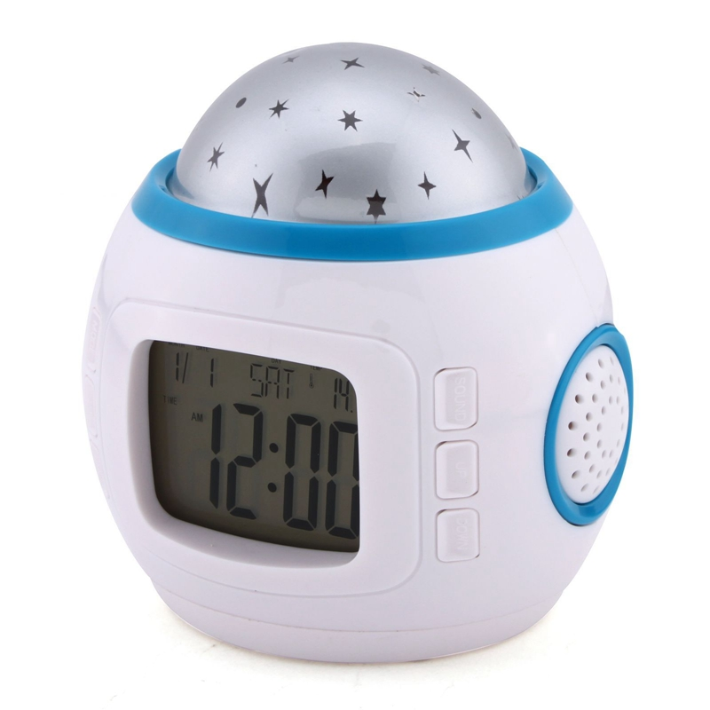 New Starry Sky Music Projector electronic calendar colourful creative multi-function LED Clock(China (Mainland))