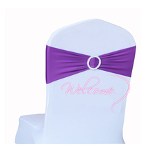 22 color,spandex chair sash band with round buckles for chair covers,Burgandy colour wedding banquet hotel decorative sash(China (Mainland))