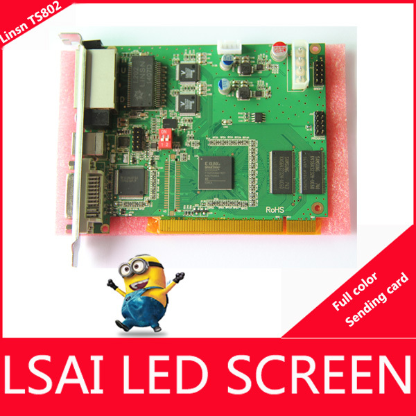promotion LINSN full color TS802 LED display sending card compatibility with RV908/ RV901 Receiving Card, led screen video card(China (Mainland))