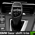 automatic speed gear shift knob head carbon fiber cover for BMW all series e81 e90 f20