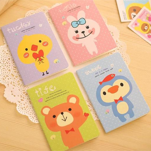 Animal notepad soft copybook daily memos composition book cute paper notebook promotion book от Aliexpress INT