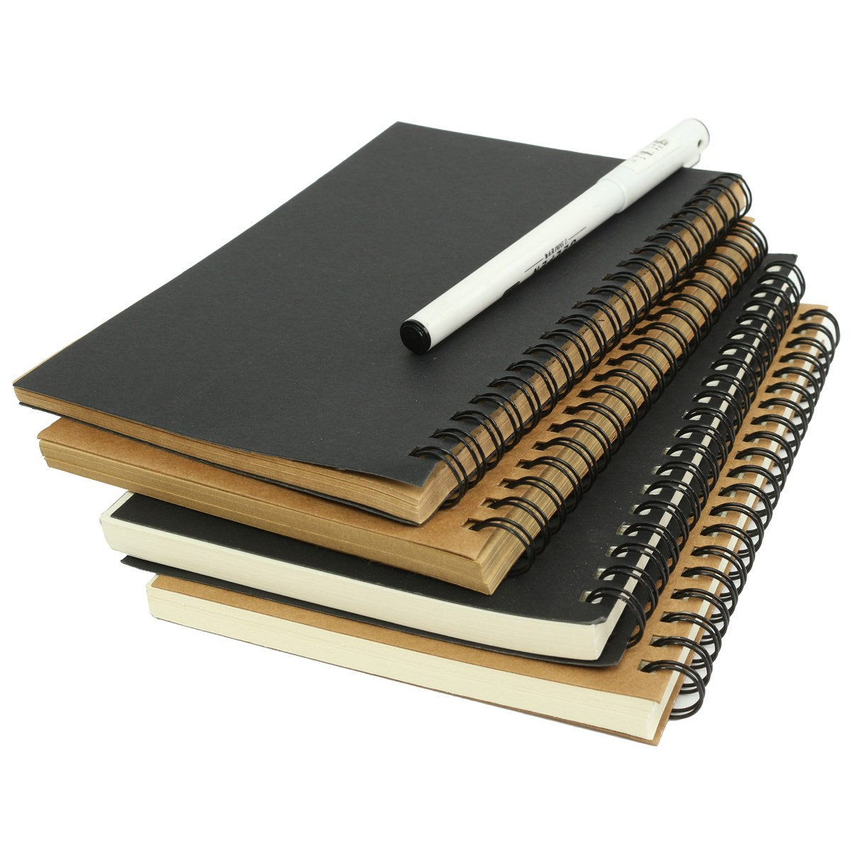 Best Price Best Promotion Retro Kraft Coil Sketch Sketchbooks Blank Notebook Creat Notebook School Stationery(China (Mainland))
