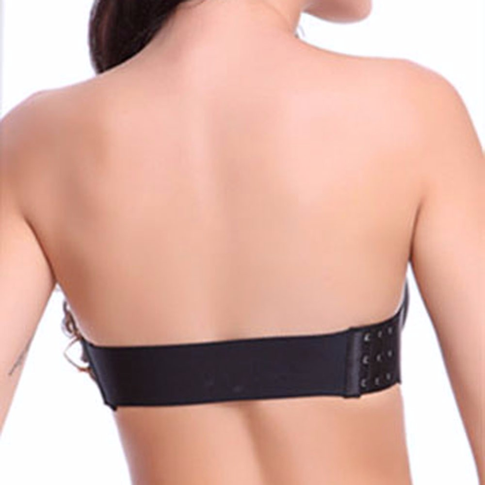 Sexy Self Adhesive Push Up Bra Strapless Invisible Bras Side Closure Bras