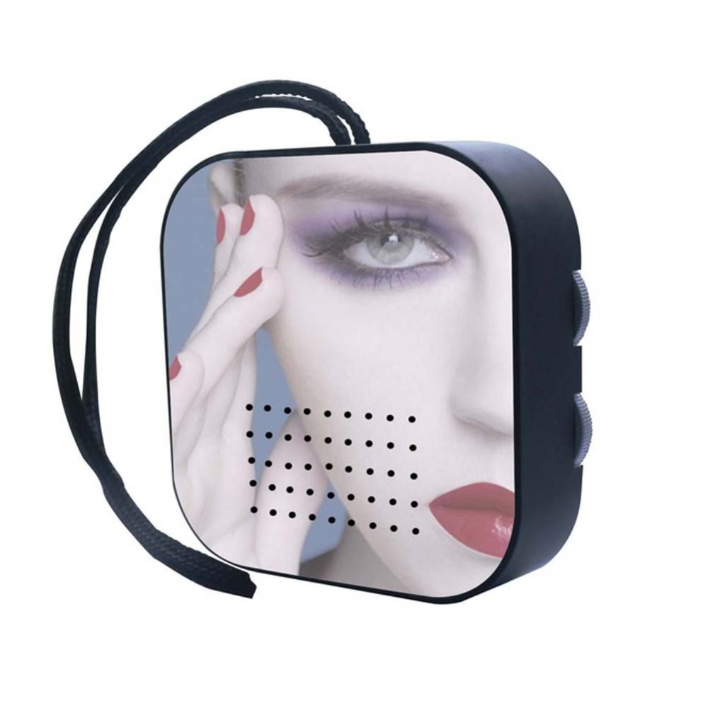 Fogless shave mirror shower proof fm am radio makeup for Shaving mirror