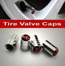 4pcs Chrome Metal Car Wheel Tire Valve Caps Stem Air For MITSUBISHI LANCER PAJERO OUTLANDER(China (Mainland))