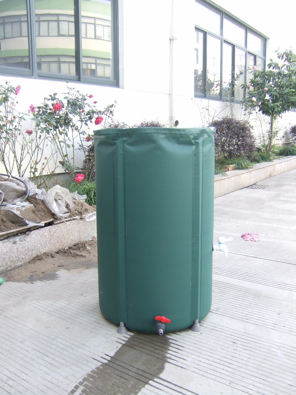 400L foldable water tank rain water connecting rain harvesting container PVC compressible rain barrel