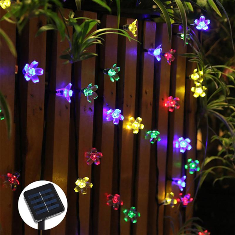 50 LEDs Flower Solar LED String Lights Christmas Festival Party Decoration LED Lamps Garden Lawn Landscap String Lamp(China (Mainland))
