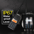 Baofeng BF A58 Handheld Walkie Talkie 5W UHF VHF UV Band IP67 Waterproof Scanner Two Way