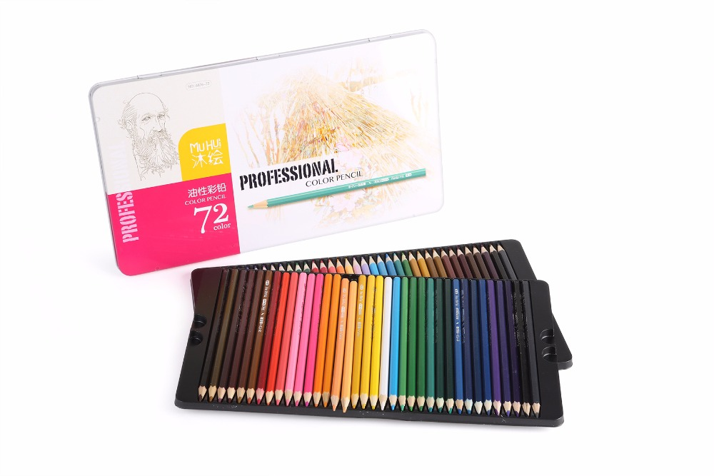 A876-72 Drawing Pencils  72 pcs Colored Pencil lapis de cor School Supplies iron box well packaged Painting Pencil<br><br>Aliexpress